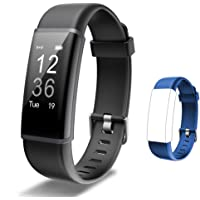 Lintelek Fitness Tracker Heart Rate Monitor, Activity Tracker, Pedometer Watch with Connected GPS, Waterproof Calorie…