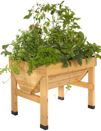 VegTrug 1m Small Wood Seater - Natural