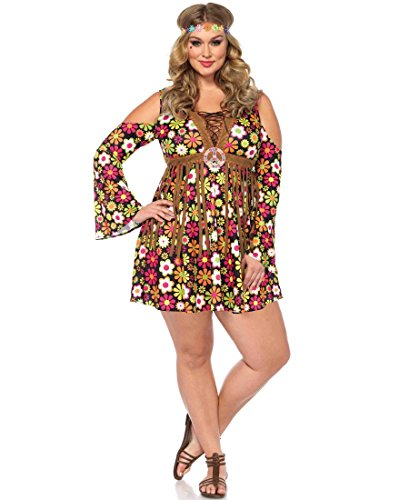 Starflower Hippie Costume - Plus Size 3X/4X - Dress Size 22-26 -