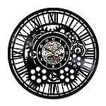 Handmade Solutions EU Steampunk Vinyl Wall Clock Heart Mechanical Art Modern Ornaments Mechanism Cogs and Wheels Gear Engineer Fathers Gift Kitchen Accessories Art Home Decor Design 6