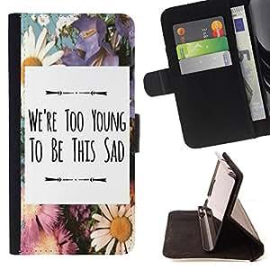 Jordan Colourful Shop - FOR Sony Xperia Z3 D6603 - we're too young - Leather Case Absorci¨®n cubierta de la caja de alto impacto
