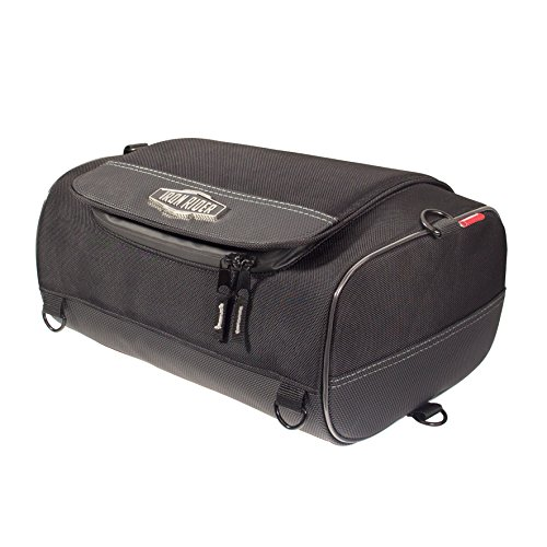 Dowco Iron Rider by 50127-00 Water Resistant Reflective Motorcycle Roll Bag: Black, Small, 15 Liter Capacity (Iron Rider Cruiser)
