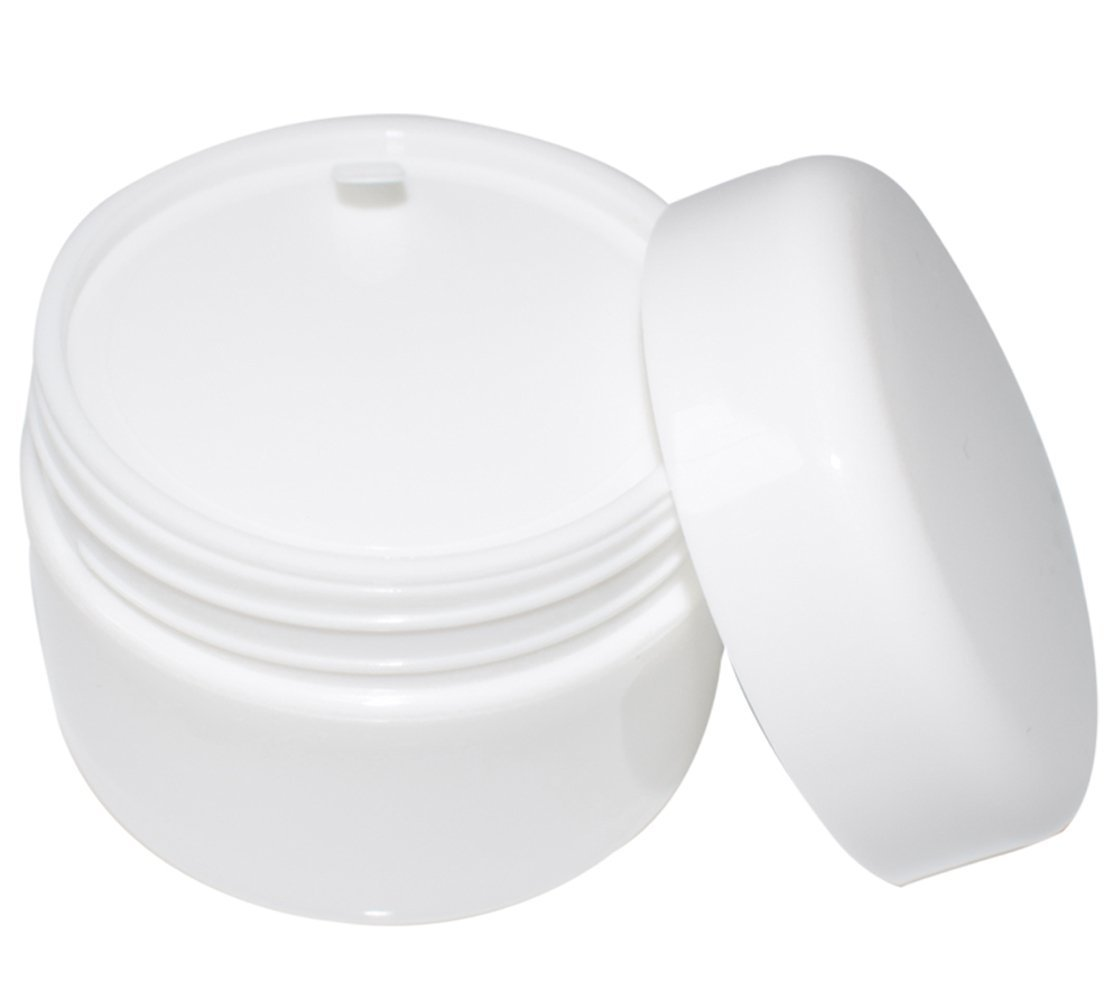 Bekith 40 Pack White 50G 50ML 1.7 oz Cosmetic Jars, with Liners and Dome Lids, for Cosmetic Samples, Cream, Lotion