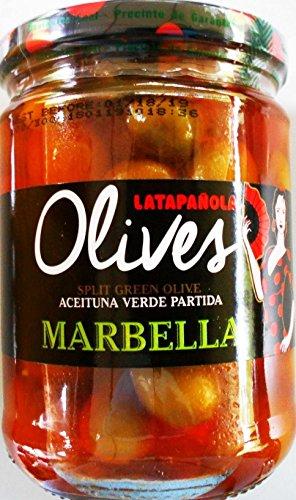 Latapanola Marbella Split Green Olives Product of (Amigo Olive)