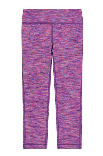 (Kirkland Signature Girls' Moisture Wicking Fabric Active Capri Legging (Purple Mix, Medium /)