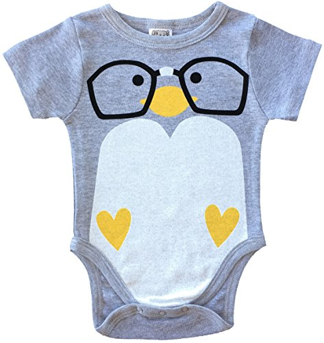 CHUBS Nerd Bird Unique Baby Onsies, Baby Product Made in The USA (3-6M, Heather Grey)]()