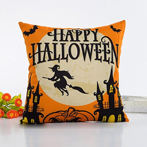 Pillow Case Neartime Halloween Sofa Bed Home Decor Pillow Case Cushion Cover (Free, D) by NEARTIME (Image #1)