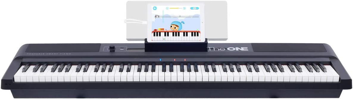 The ONE Music Group Smart Stage Keyboard, Portable Digital Piano with Weighted Hammer Action Keys, 88 (TON1B)