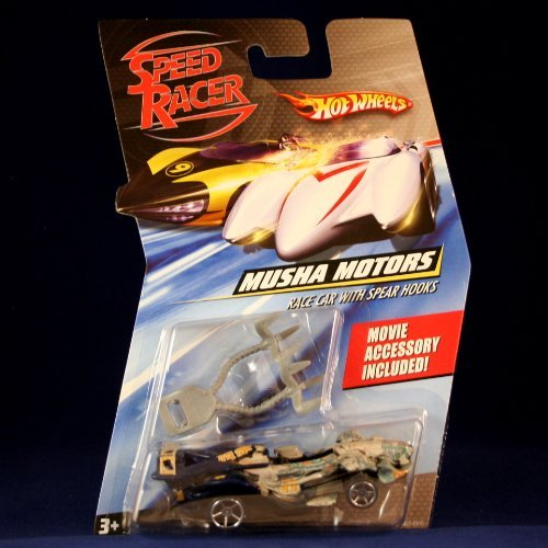 Speed Racer Musha Motors Race 1:64 Scale Car w/ Spear Hooks Hot Wheels