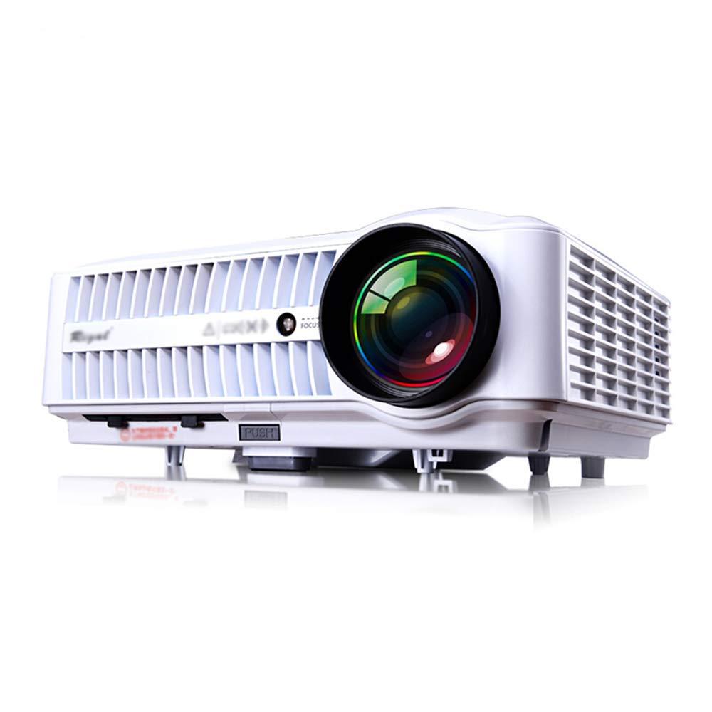 HUA BEI プロジェクタ - プロジェクションサイズ40-300インチ、スクリーンサイズ40-300インチ、明るさ(ルーメン)8000-9900、解像度1280X800dpi、スクリーン付きワイヤレス、キーストーン補正、ホーム、ビジネスオフィスおよびスクールに最適-290 * 200 * 97mm | ( Color : 白 , Size : WiFi Edition )   B07H66LMVL