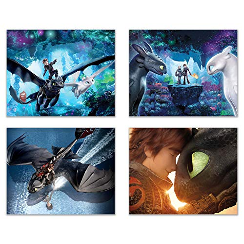 How to Train Your Dragon: The Hidden World Prints - Set of Four (8x10) Poster Photos
