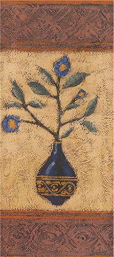 Perfect Effect Canvas ,the High Resolution Art Decorative Prints On Canvas Of Oil Painting 'Blue Flowers In The Vase', 20x45 Inch / 51x114 Cm Is Best For Kids Room Gallery Art And Home Gallery Art And Gifts