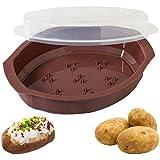 Progressive International Microwavable Potato Cooker with Lid (BROWN)