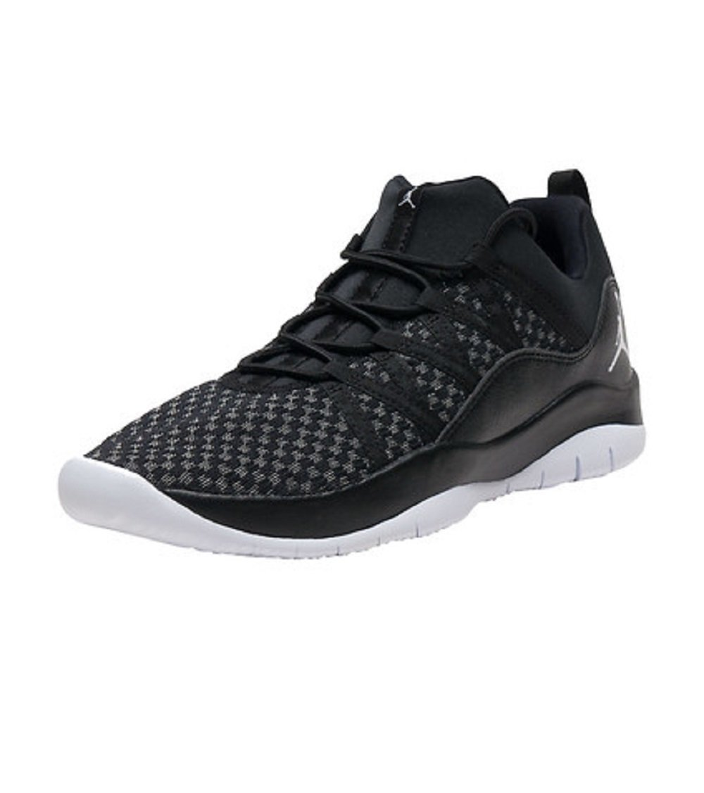 Jordan Big Kids deca Fly (GS) Shoe (Black/White-White) Size 4.5 US