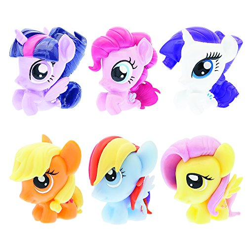 Pony Pull Toy (Mash'Ems Fash'Ems - My Little Pony 4 Pack (4 Blind Capsules Per Order) Squishy Collectible Toy)