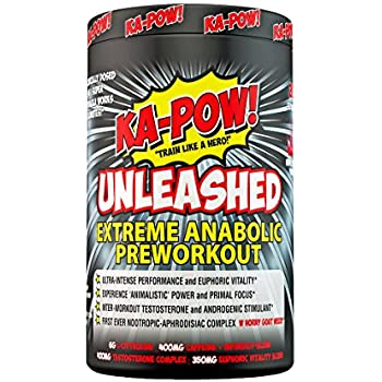 KA-POW! UNLEASHED - EXTREME ANABOLIC PREWORKOUT -The Strongest Most Complete Pre-Workout Formula Ever Made! Clinically Dosed 3-in-1 Super Formula will ...