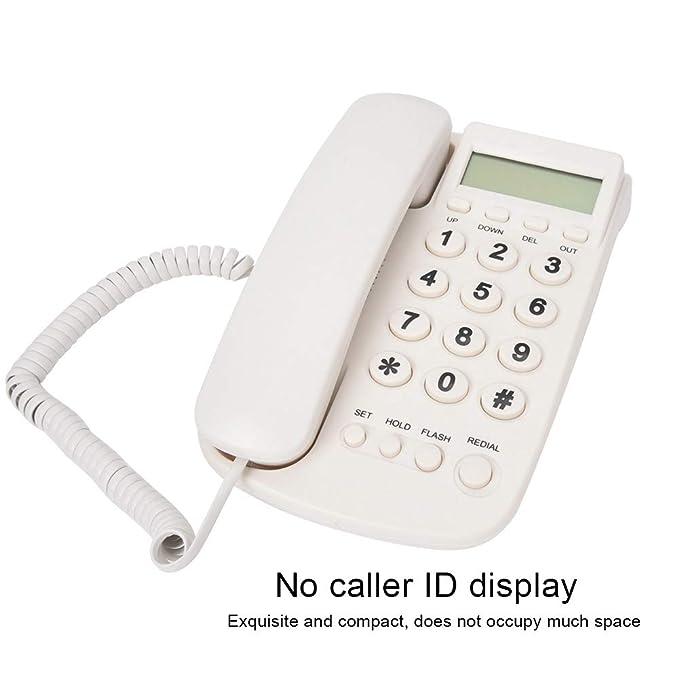 Mugast Schnurgebundenes Telefon,Festnetztelefon Nebenstelle Wandmontage Keine Anrufer ID Haustelefon mit Blitzfunktion Stummschaltung Wahlwiederholung Gut Klang Rot