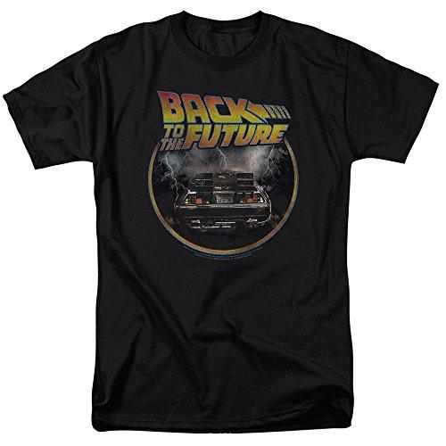Popfunk Back to The Future Delorean T Shirt (Small) Black ()