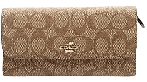 Coated Canvas Checkbook Wallet 52681 (Signature Checkbook Clutch)