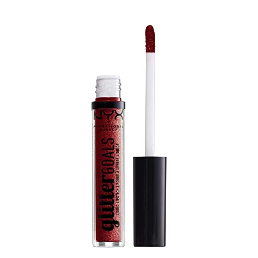 Amazon.com: NYX PROFESSIONAL MAKEUP Glitter Goals Liquid Lipstick, Cherry Quartz, 0.1 Ounce: Beauty