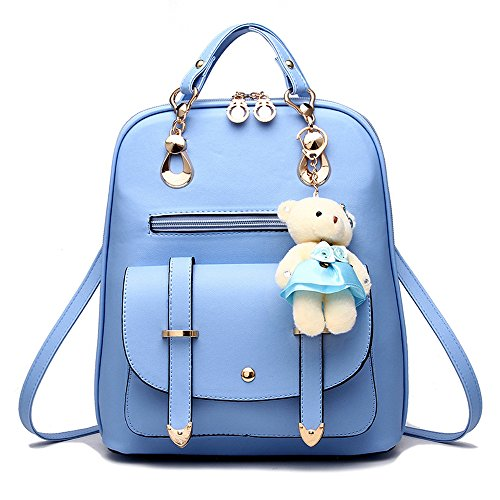BAG WIZARD Women Small Backpack Purse Cute Quilted Faux Leather Mini Back Pack Purses for Teen Girls ()