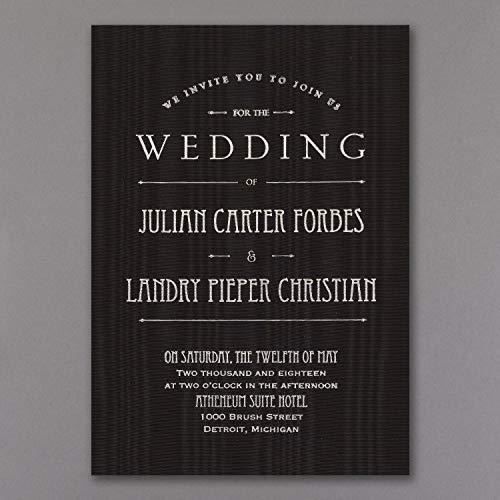 950pk It's a Wedding - Invitation - Black Moire-Luxe Material Invitations