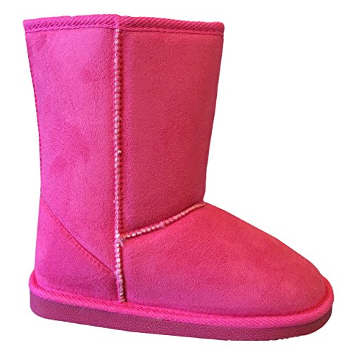 EyesOnStyle Girls Kids Cute Warm Winter Mid Calf Snow Boots Shoes