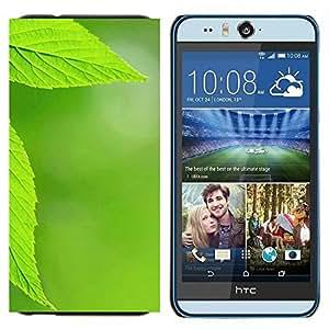 EJOOY---Cubierta de la caja de protección para la piel dura ** HTC Desire Eye M910x ** --Textura verde de la hoja