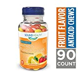 SoundHealth Extra Strength Antacid Chews for Heartburn Relief, Assorted Fruit Flavor, 90 Count Bottle