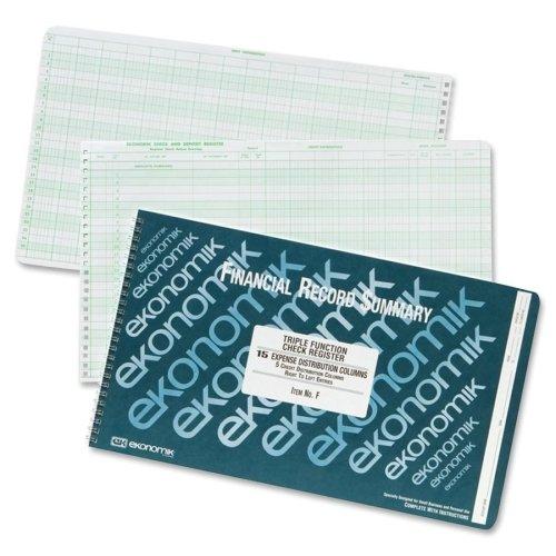 EKOF - EKONOMIK Systems Ekonomik Wirebound Check Registers Accounting System