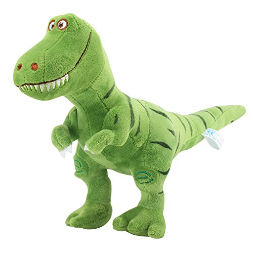 Zooawa Bed Time Stuffed Animal Toys, Cute Soft Plush T-Rex Tyrannosaurus Dinosaur Figure - Green]()