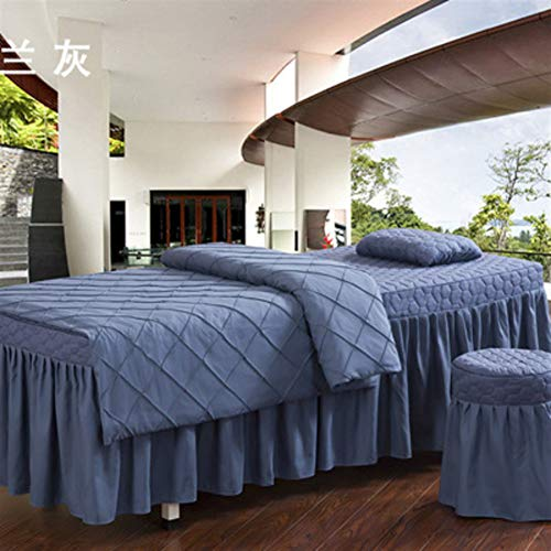 AMY Massage Table Sheet Sets Salon Bed Cover, Bed Beauty Bed Skirt Sheet Beauty Bedspreads Solid Color Lattice Bed Linen Tattoo Therapy Massage Quilt Cover-G 80x190cm(31x75inch)