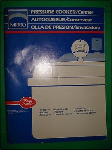 Mirro Pressure Cooker/Canner Autocuiseur/Conserveur Olla de Presion ...