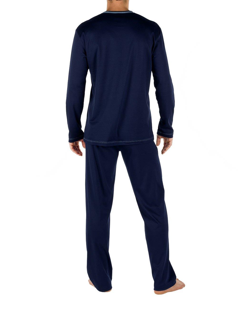 Calida Chill Out 100% Cotton Pajama Set (43162) L/Dark Blue by Calida (Image #2)