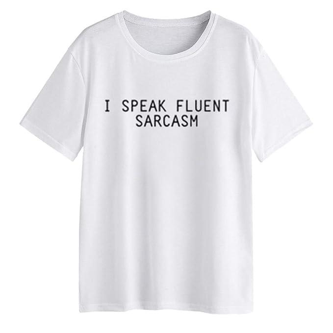 ❤ Camiseta de Mujer Casual,Camiseta de Manga Larga con Estampado de Letras para niñas: Amazon.es: Ropa y accesorios