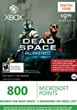 Xbox LIVE 800 Microsoft Points for Dead Space 3 Awakened [Online Game Code] image