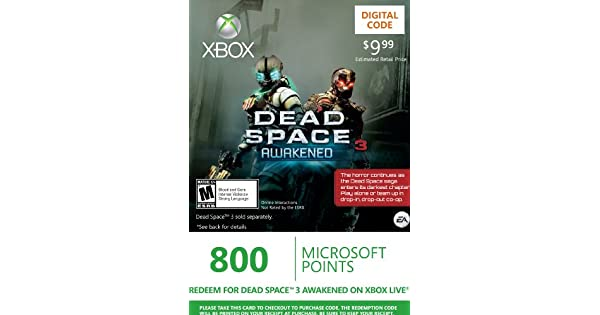 Amazon.com: Xbox LIVE 800 Microsoft Points for Dead Space 3 ...