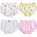 Soft Baby Underwear for Toddler Girls Cotton Training Pants Pack of 4 (110cm (3-4Y), Color B)