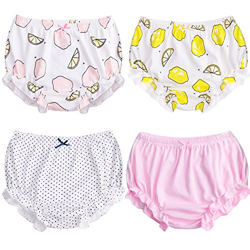 Infant Training (Soft Baby Underwear for Toddler Girls Cotton Training Pants Pack of 4 (100cm (2-3Y), Color B))