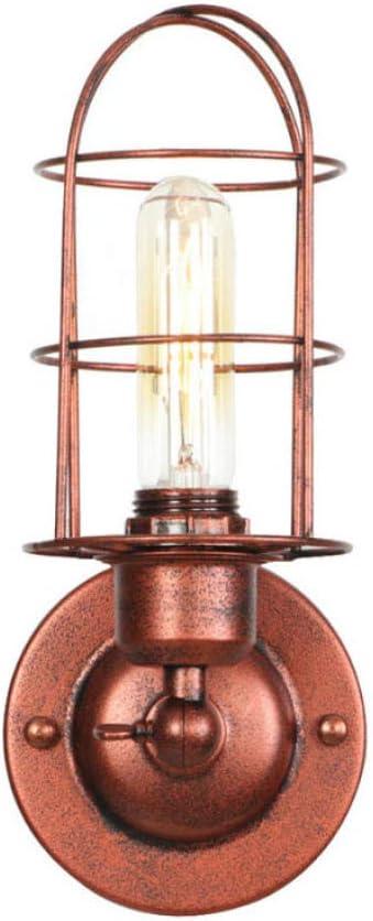 Vintage Apliques Lámpara Vintage Interior Lámpara de Pared Metal Negro Led Lámpara De Pared Dormitorio Escalera Luz Retro Led Edison Aplique De Pared: Amazon.es: Iluminación