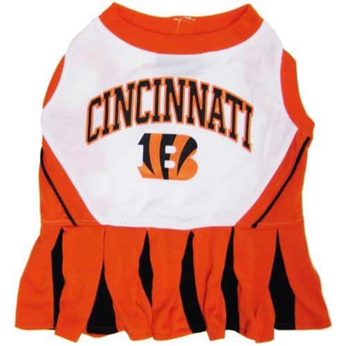 Cincinnati Bengals Cheerleader - Cincinnati Bengals Pet Cheerleader Dress, Medium