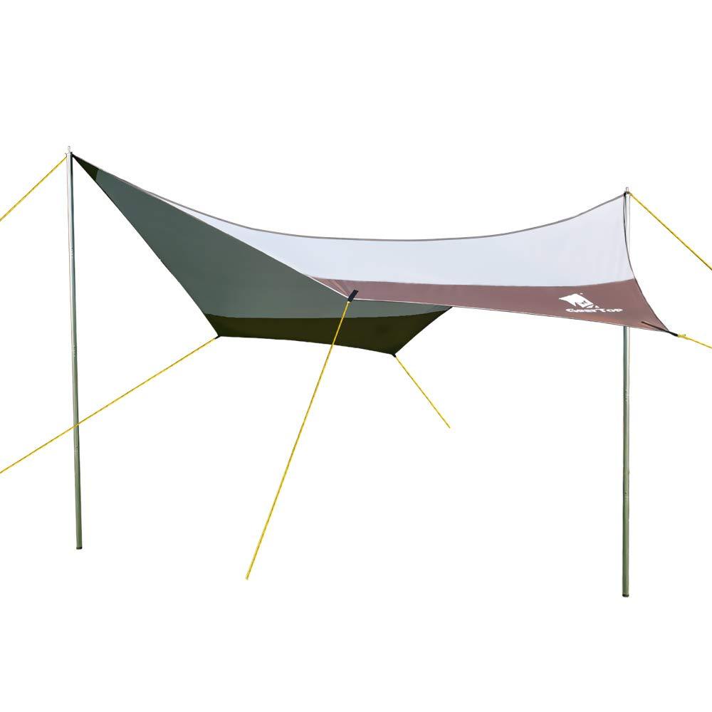 GEERTOP Hammock Rain Fly Tent Tarp 14x13 ft & Camping Survival Gear - Waterproof Rain Tent Cover - Lightweight Camping Tarp Sun Shelter by GEERTOP