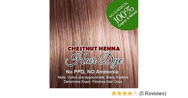 Amazon Com Chestnut Henna Hair Color 100 Organic And Chemical
