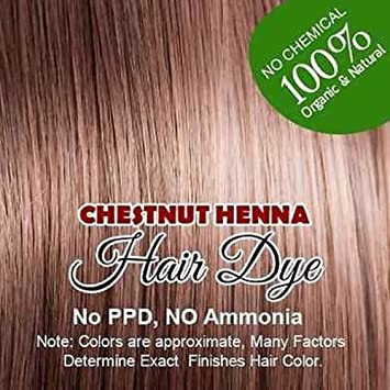 Henna Hair Color - 100% Organic and Chemical Free (Chestnut Henna)