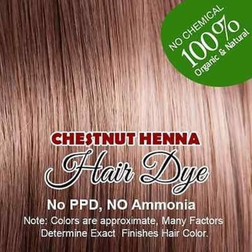 (chestnut) Henna Hair Color – 100% Organic and Chemical Free