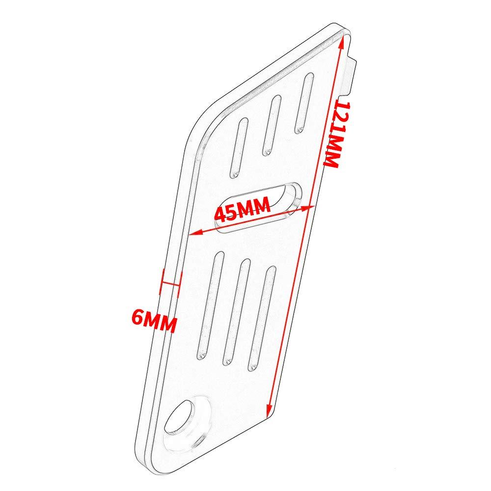 Negro CMX500 CMX300 Motocicleta CNC Aluminio Tapa de la Cubierta del Protector del dep/ósito del l/íquido de Frenos Traseros para 2017 2018 2019 Honda Rebel CMX 300 500 Accesorios de Moto 17-19