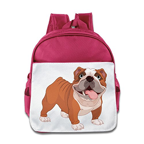 LINNA Personalized Cute Pet Dog Kids Children School Bagpack Bag For 1-6 Years Old Pink