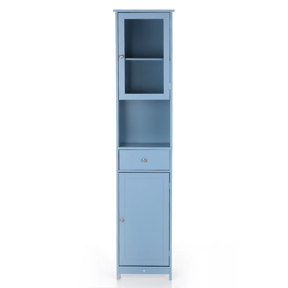 Amazon.com: iKayaa Tall Tower Storage Cabinet with Doors and Drawer ...