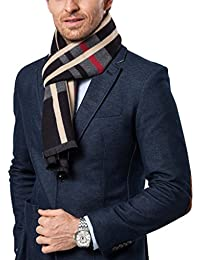 Men's Fashion Scarves for Winter Cashmere Feel Scarf for Men 70.8 11.8 IN