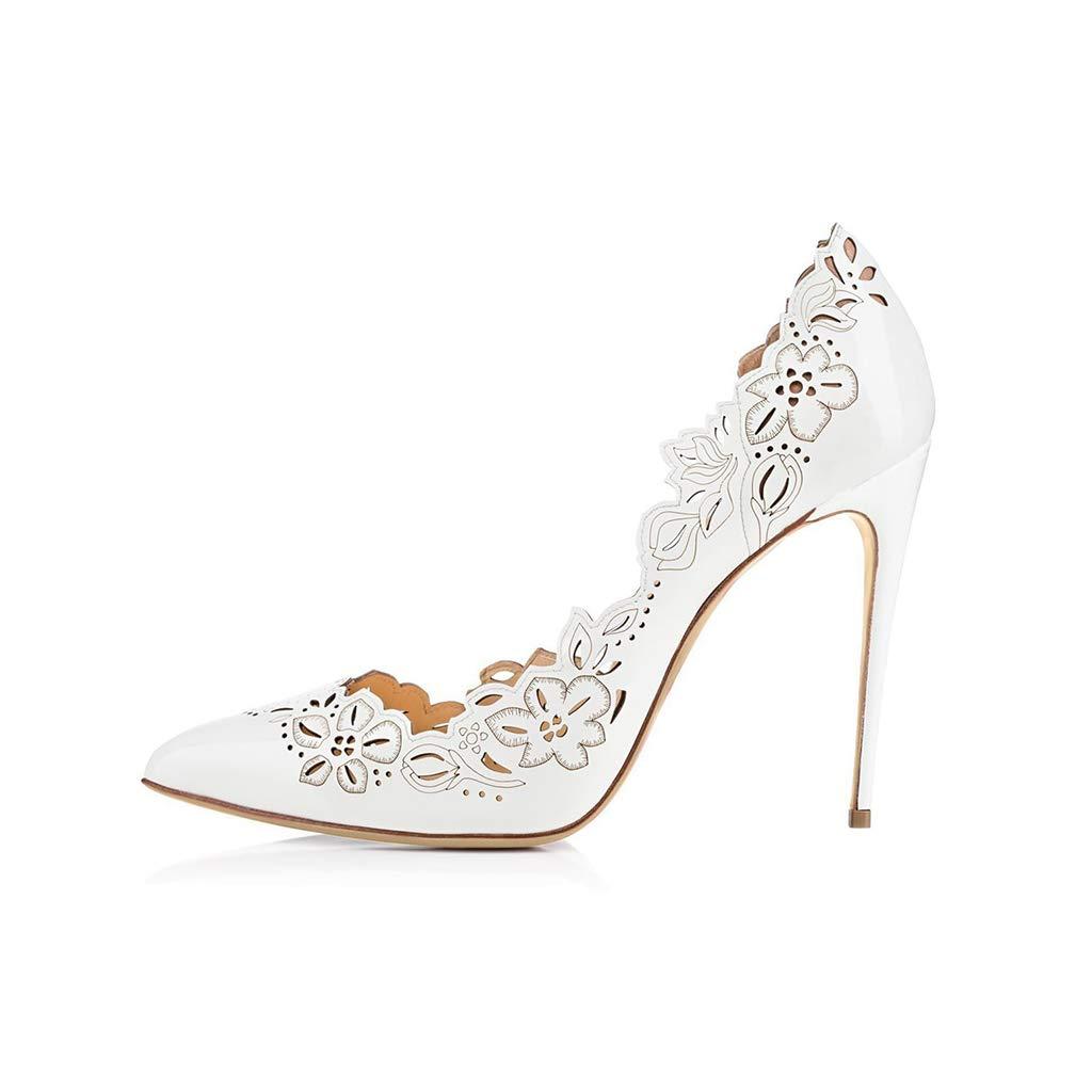 LYY.YY Frauen Mode Spitze Pumpen Hollow Atmungsaktiv Schlanker High Heel Elegant Und Komfortabel Tageslänge Kleid Einzelne Schuhe